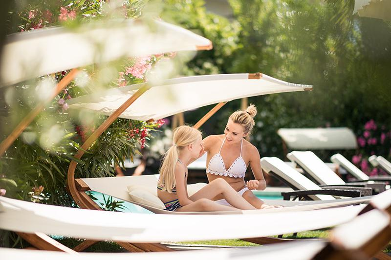 Relax on our comfortable sun loungers