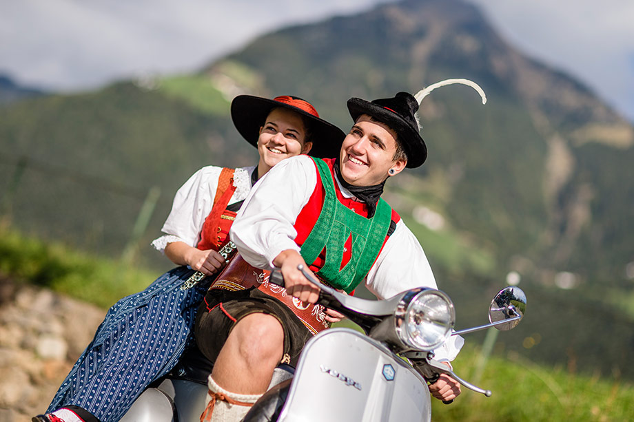 Vespa – South Tyrolean traditional costume